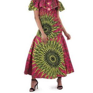 African-Pink-Sun-Dress