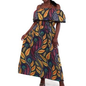 Kitenge Long dress Size L