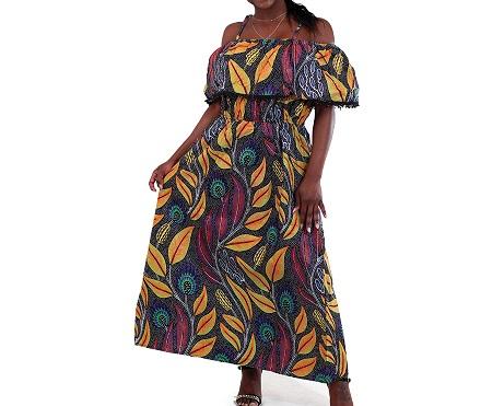 Kitenge Long dress Size L