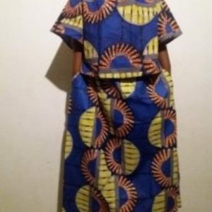 African ankara skirt and blouse set Size M 100% cotton