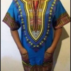 Hot Dashiki shirt light blue Size XXL