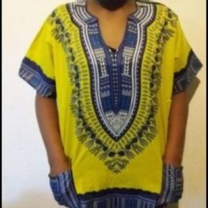 Hot Dashiki shirt Yellow Size L