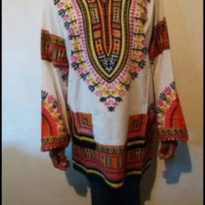 White African print Dashiki traditional shirt
