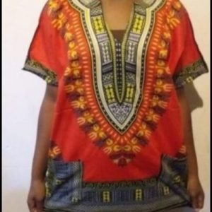 African dashiki shirt orange