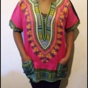 African dashiki shirt Rose