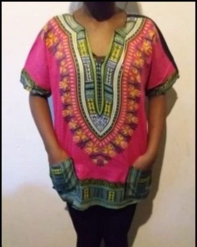 African dashiki shirt Rose