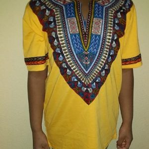 African traditional t-shirt yellow Size M