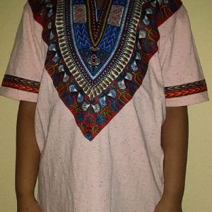 Cool dashiki t-shirt short sleeves Size XL