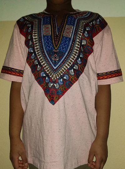 Cool dashiki t-shirt short sleeves Size XL