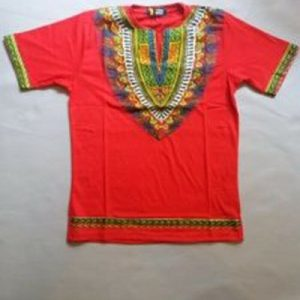 Cool dashiki t-shirt short sleeves Size M