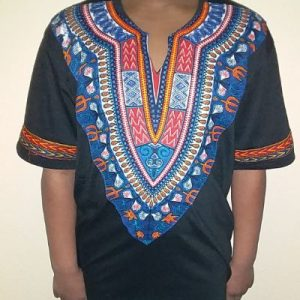 Cool dashiki t-shirt short sleeves Size L