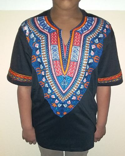 Cool dashiki t-shirt short sleeves Size L