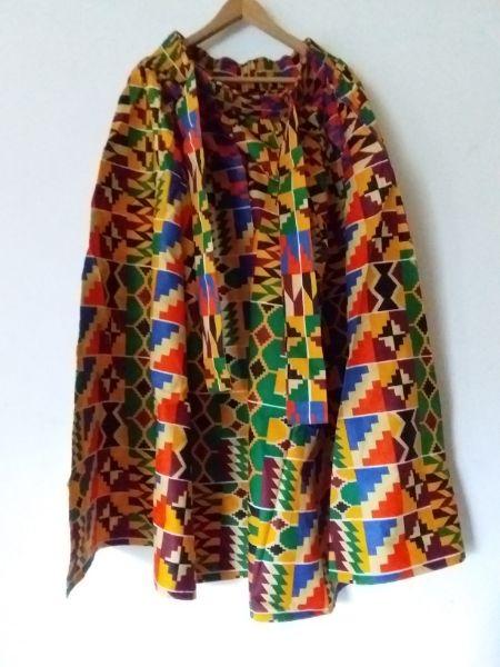 Nice Maxi Long Kente skirt 100% cotton