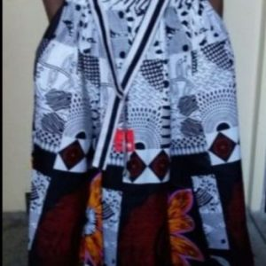 Nicely Women African Print Dashiki Maxi Skirt With Elastic Band And Rope