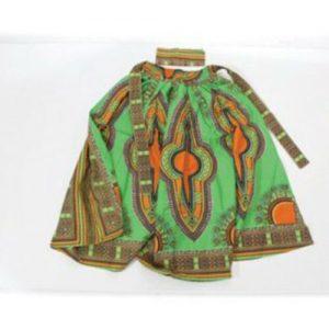 Nice Dashiki Maxi Skirt 100% Coton Free size XL