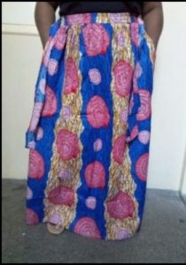 Nicely Women African Print Dashiki Ankara Print Skirt With Elastic Band And Rope
