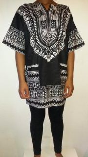Hot Dashiki shirt Black Size XXL