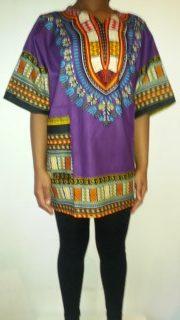 Hot Dashiki shirt Purple Size XXL