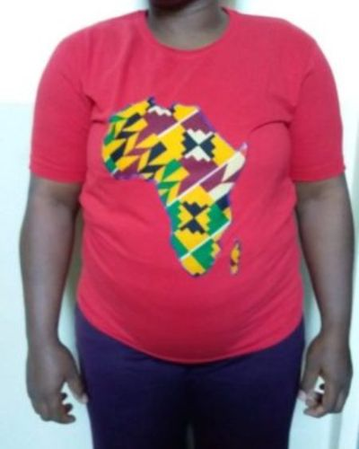 African map decorated t-shirt Size M