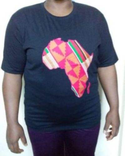 African map t-shirt Size XL 100% cotton