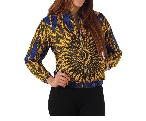 Beautiful and confortable African Ankara Bomberjack Size XXL