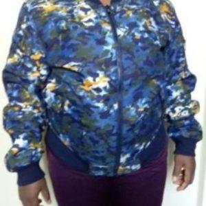 Camouflage design coat Size L