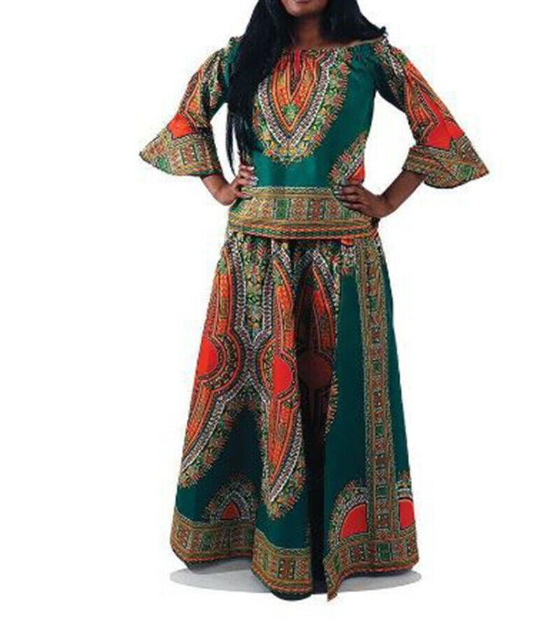 Nice african dashiki Skirt and blouse Set.Size L