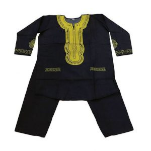 Denim Pant Set brings genuine African style into any wardrobe