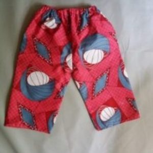 Children short ankara pant Size 6 yrs