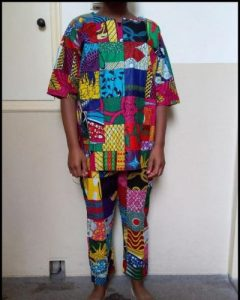 Pachtwork set of pant and shirt XL