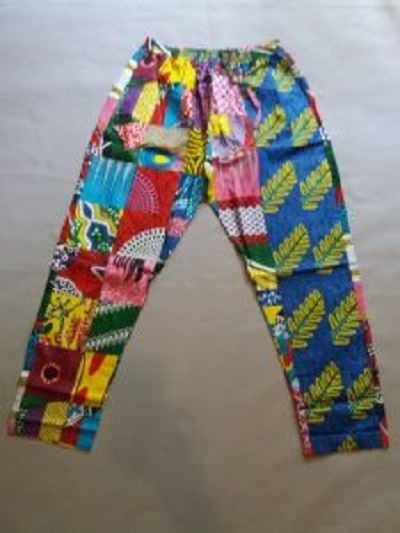 Wear this beautiful pant any time and look great Size L due to elastic waist band it can also fit M
