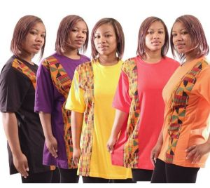 Your African Clothing Store Online like this kente stipe T-shirt