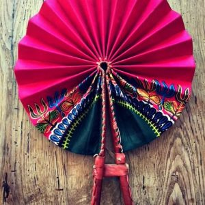 African Fabric hand fan