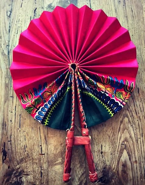 African Fabric hand fan