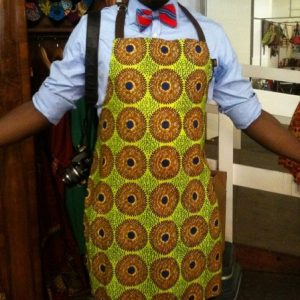 Nicely made African kitchin apron  1 Size fit all