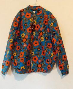 Bomber jacket Blue orange