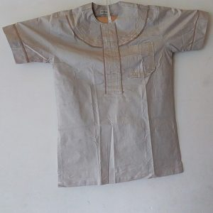 African Traditional shirt for Men Melk Color  Size XL