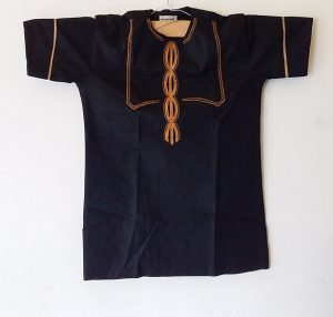 African Traditional shirt for Men Black Color  Size L