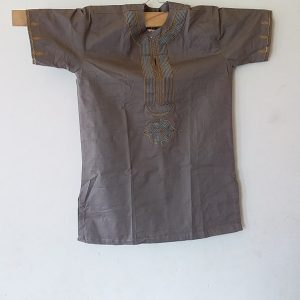African Traditional shirt for Men Brown Color  Size L