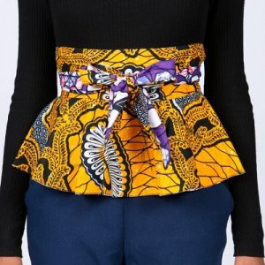 Ankara wrap belt 100% cotton free size to tie.fit from S to L