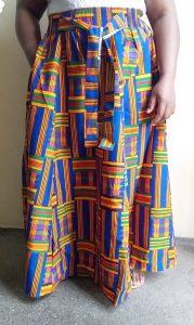 Maxi blue kente skirt