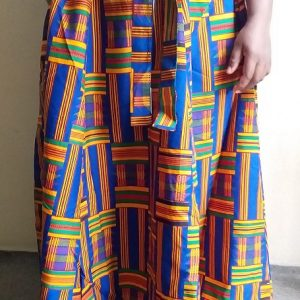 Maxi blue kente skirt