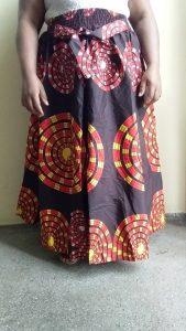 Long Maxi Ankara African Fabric Skirt