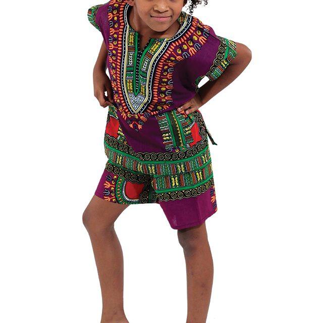 childrens-dashiki-shorts-set-purple