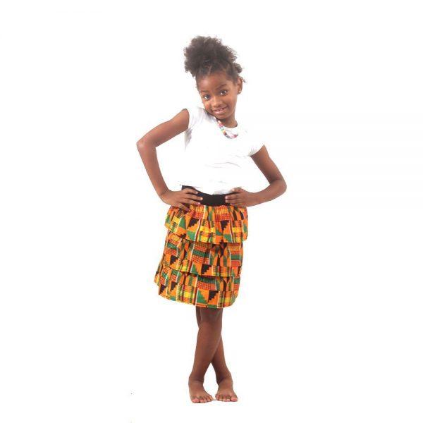 kente childrens-skirt