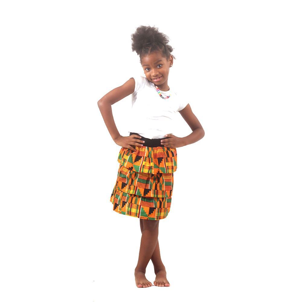 kente childrens-skirt