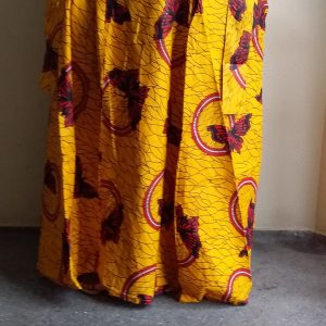 Maxi Long African Ankara Traditional Skirt Free Size 2 Pockets