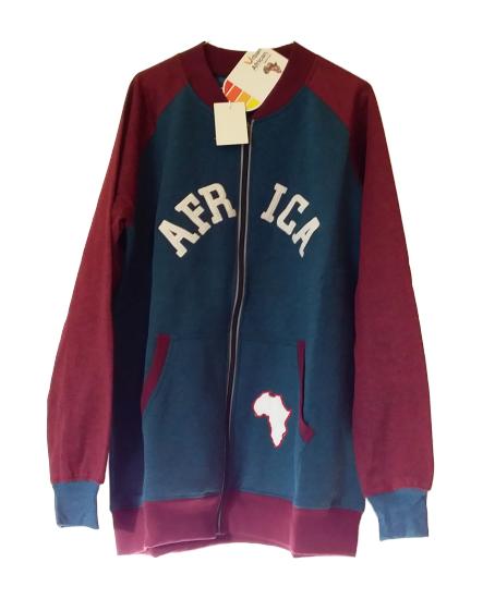 Blue -Red Fleece Jacket