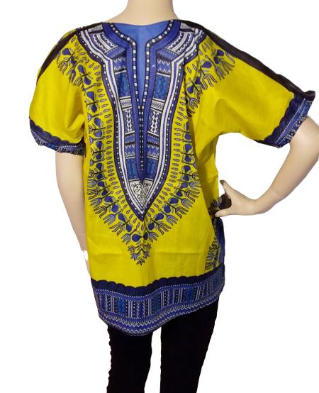 Yellow dashiki shirt
