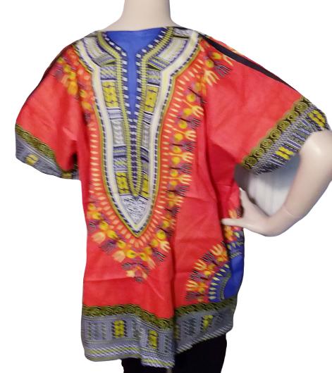 Orange Dashiki Shirt